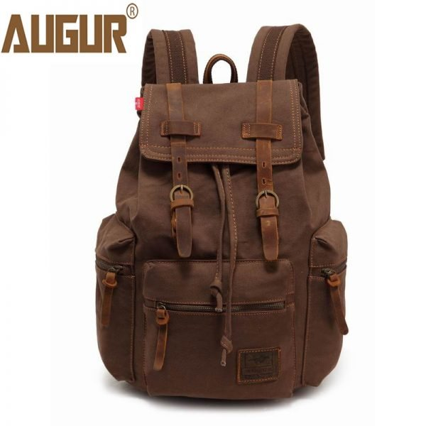 AUGUR Canvas Rucksack - Coffee