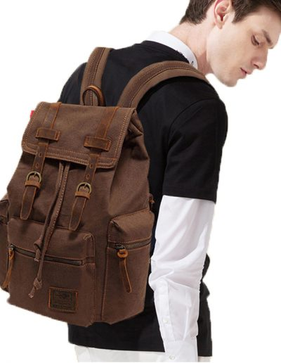 AUGUR Canvas Satchel - Model